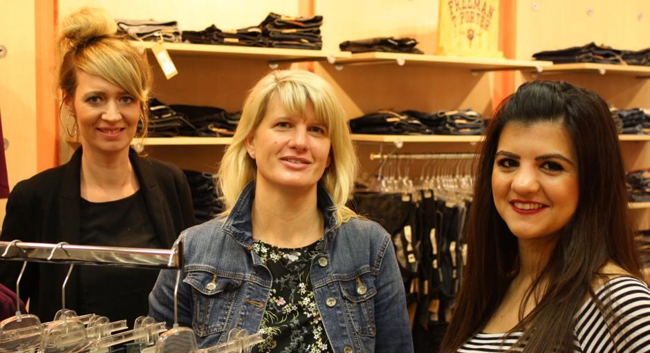 Unser Verkaufsteam: Jenny, Wenke und Midia