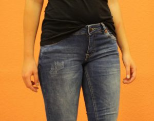 Q/S Jeans mit Used-Look